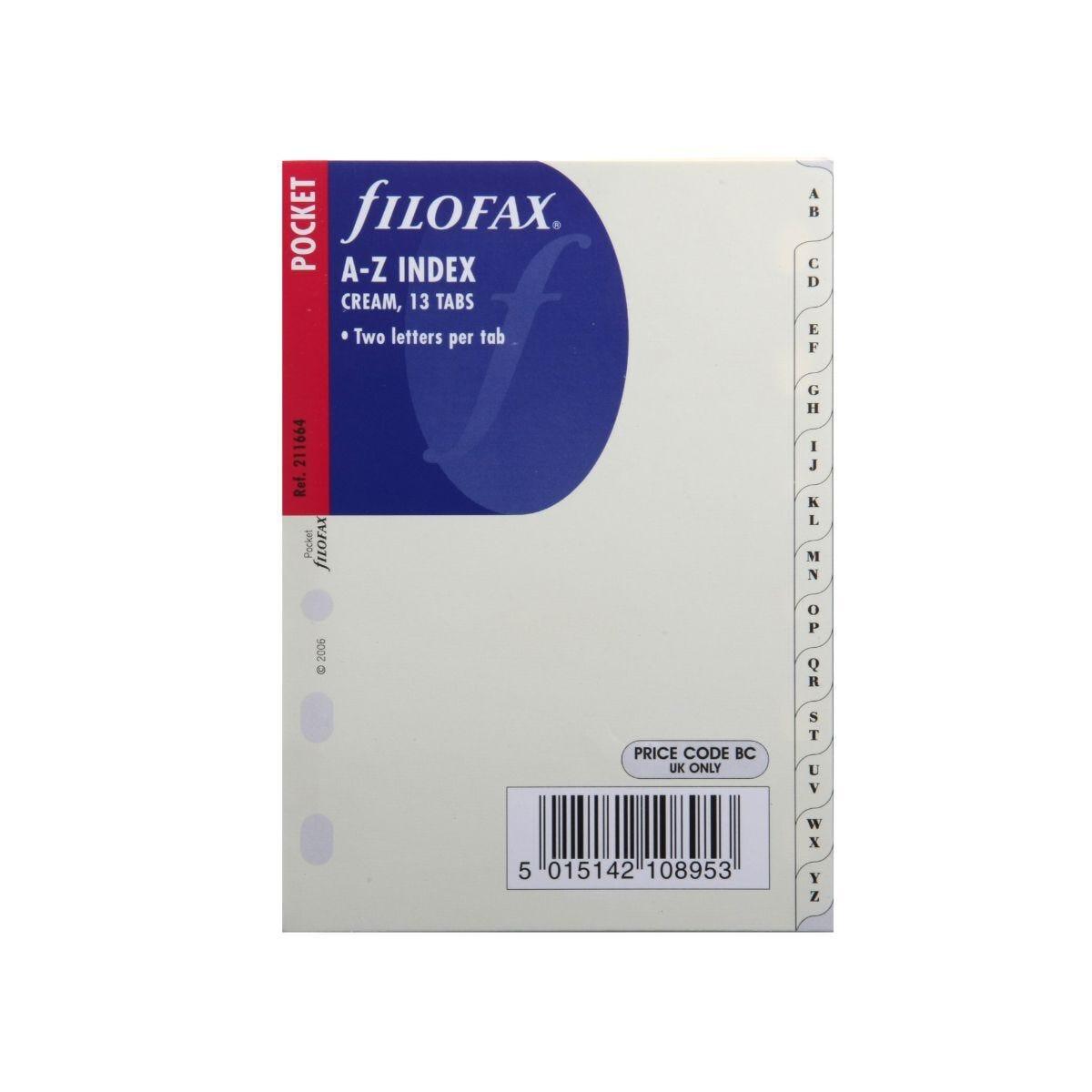 Filofax Refill Pocket Index A-Z