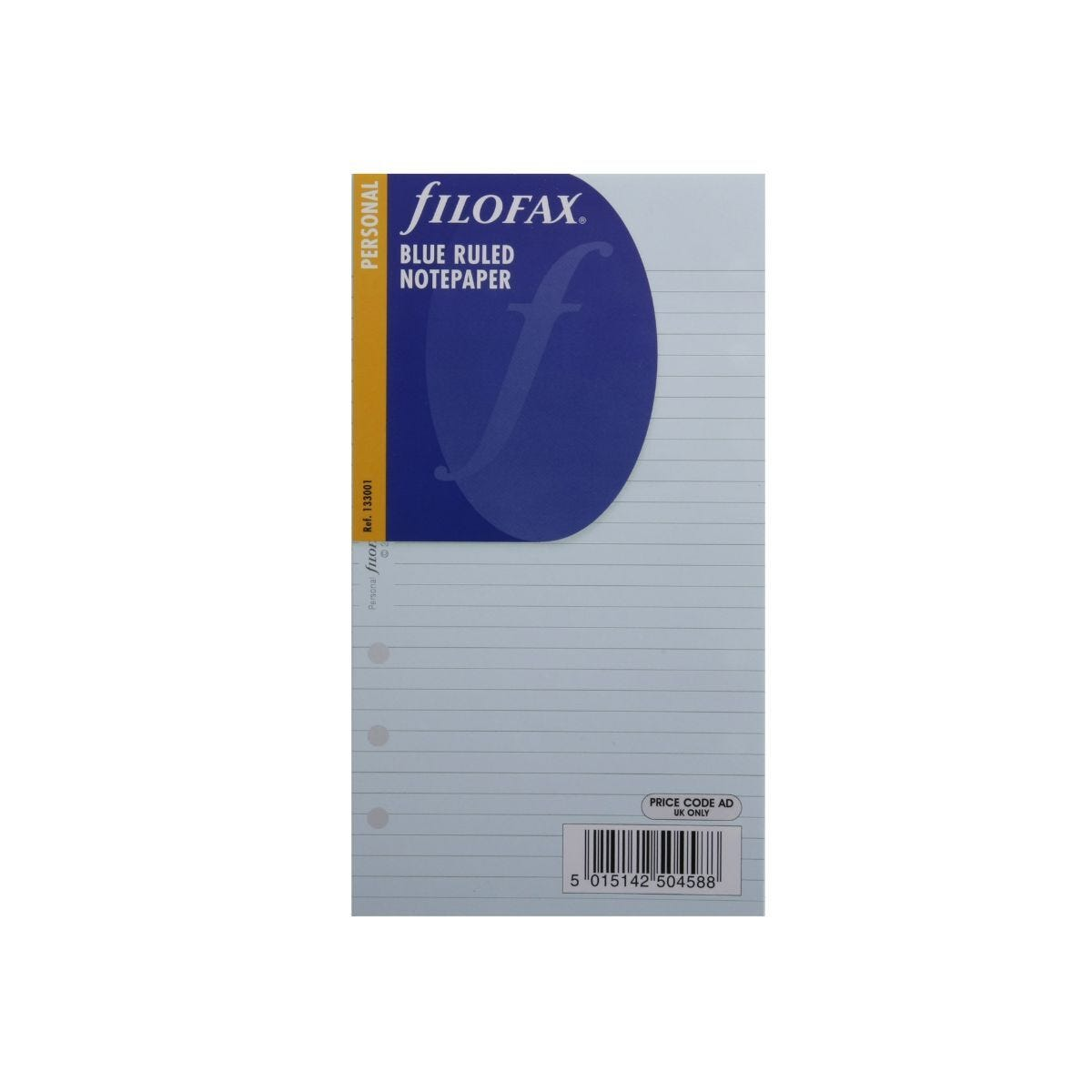 Filofax Refill Personal 30 Sheets Ruled Pale Blue