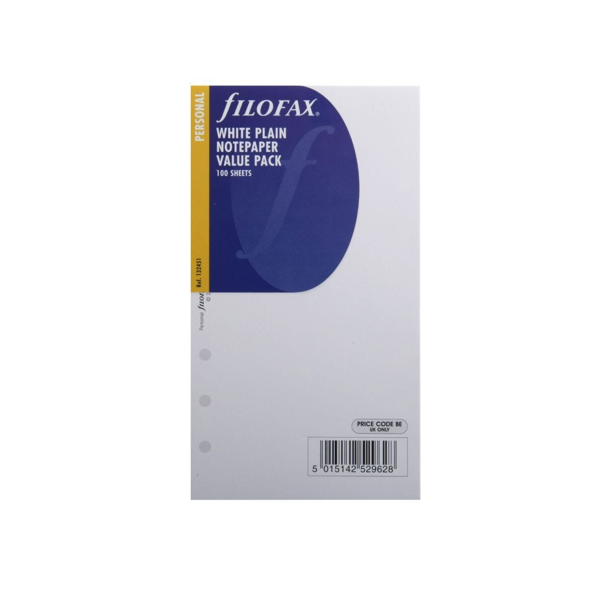 Filofax Refill Personal 100 Sheets Plain