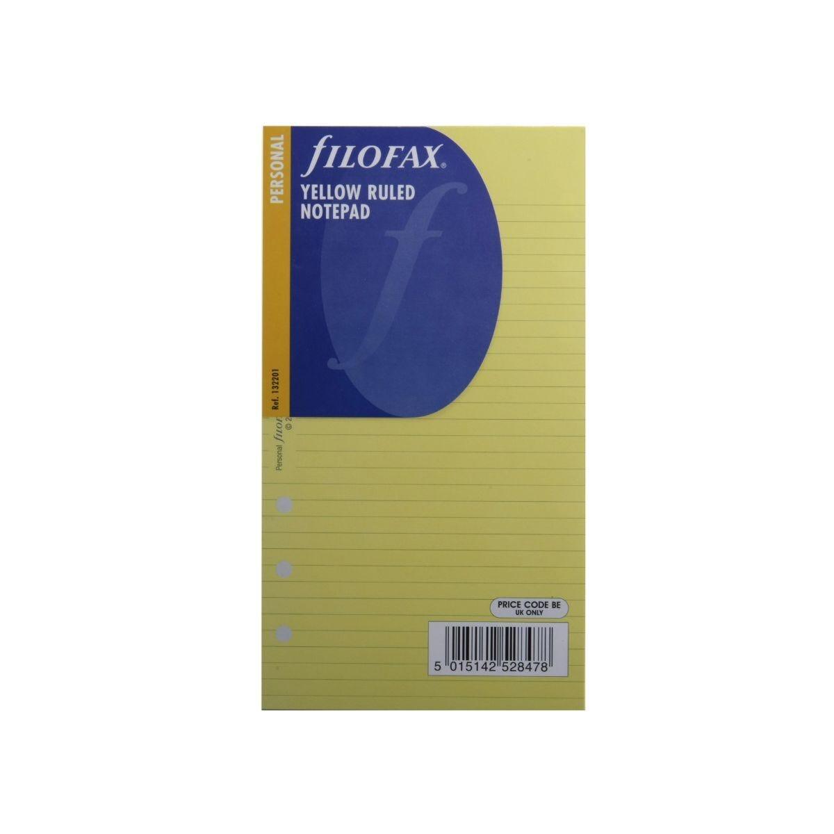 Filofax Refill Personal 100 Sheets Notepad Ruled