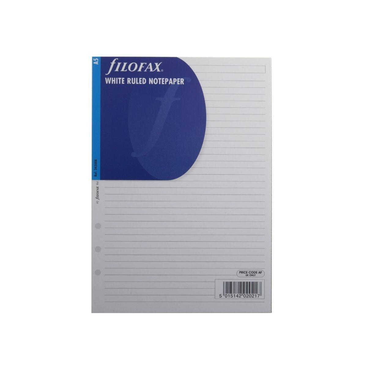Filofax Refill A5 Ruled 25 Sheets