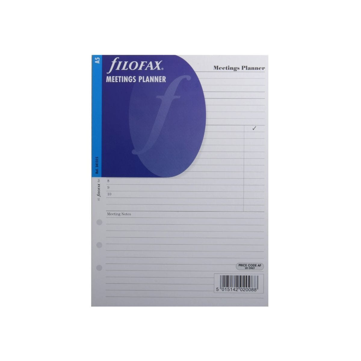 Filofax Refill Meeting Planner A5 25 Sheets