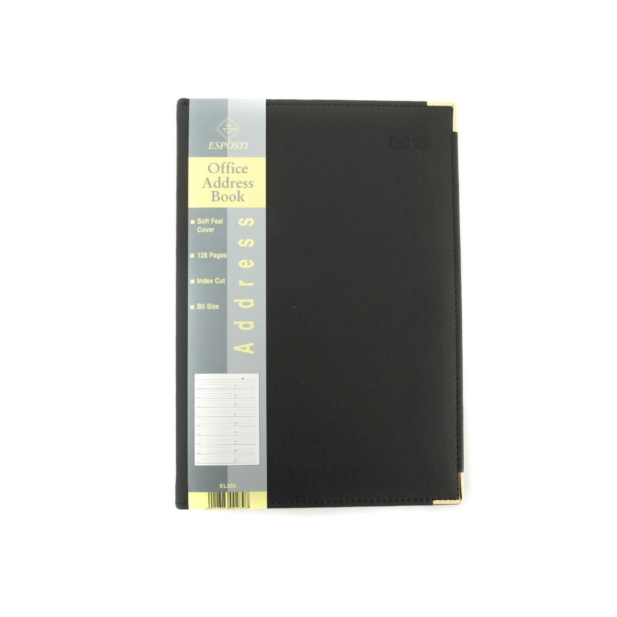 Esposti Address Book Soft Feel Cover B5 128 Pages 64 Sheets