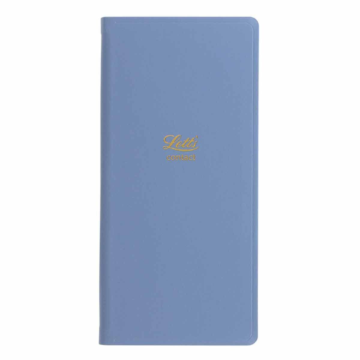 Letts Icon Slim Address Book Blue