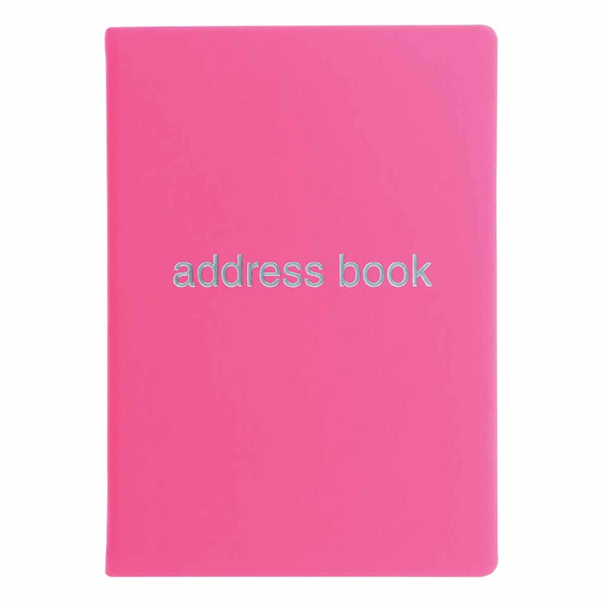 Letts Dazzle A5 Address Book Pink