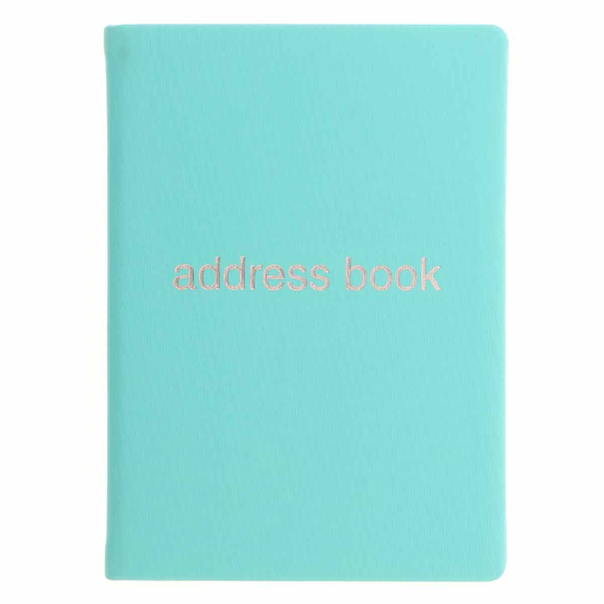 Letts Dazzle A5 Address Book Turquoise