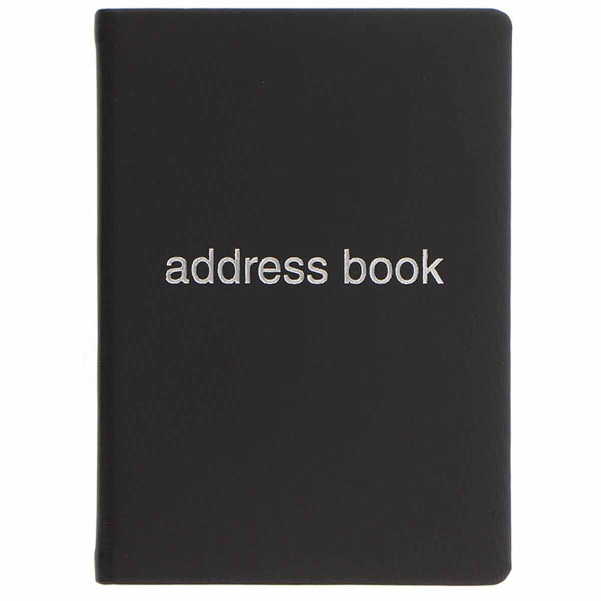 Letts Dazzle A6 Address Book Black