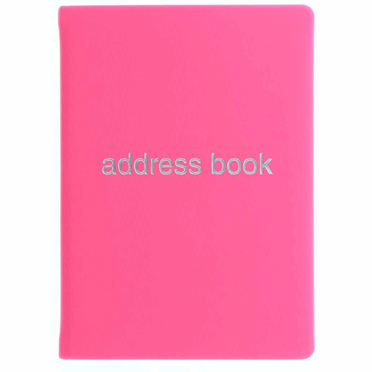 Letts Dazzle A6 Address Book Pink