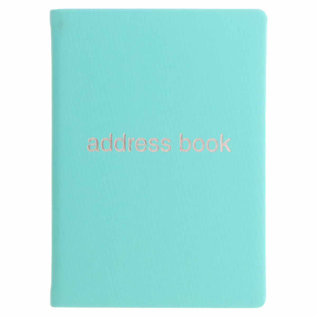 Letts Dazzle A6 Address Book Turquoise
