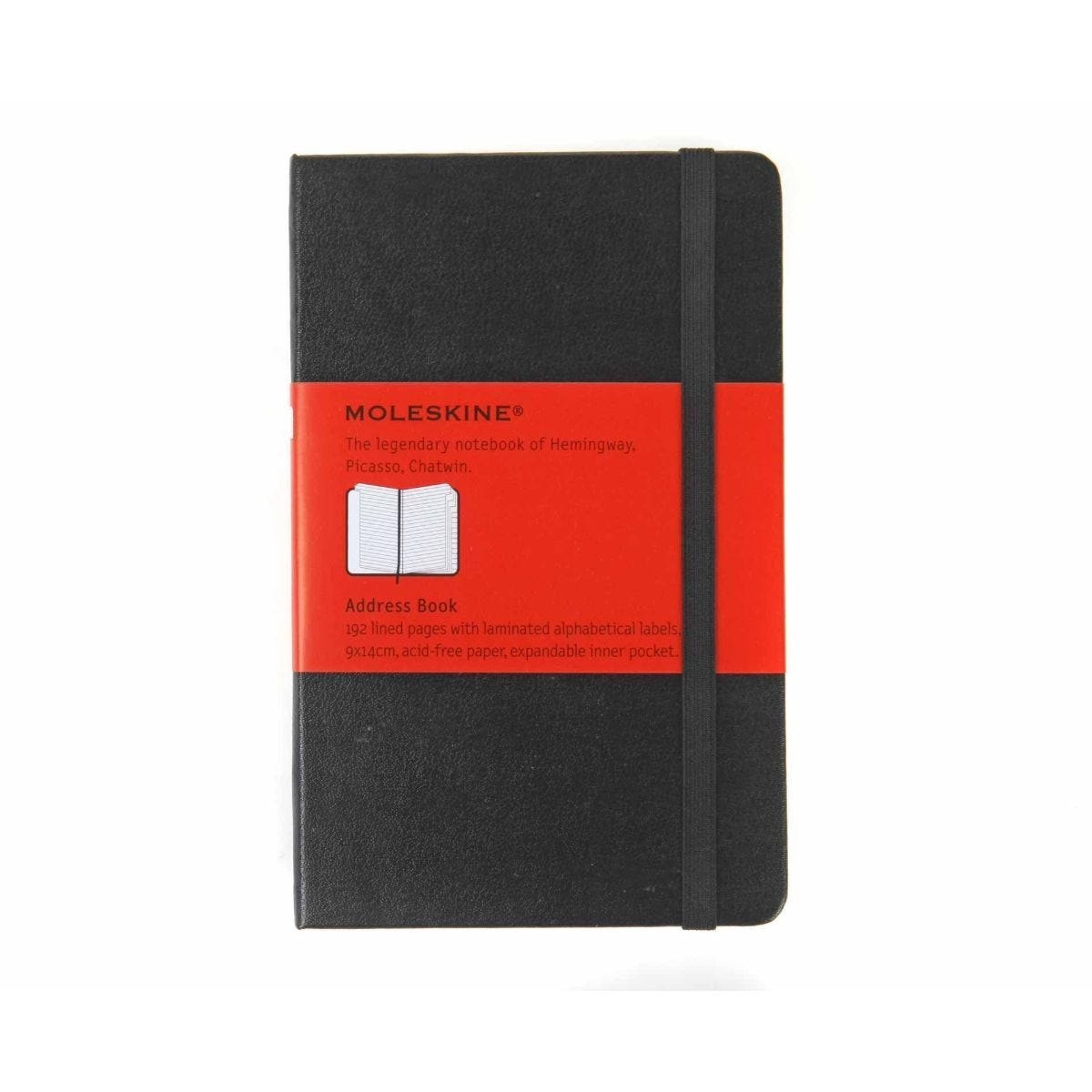 Moleskine Address Book 192 Pages 96 Sheets