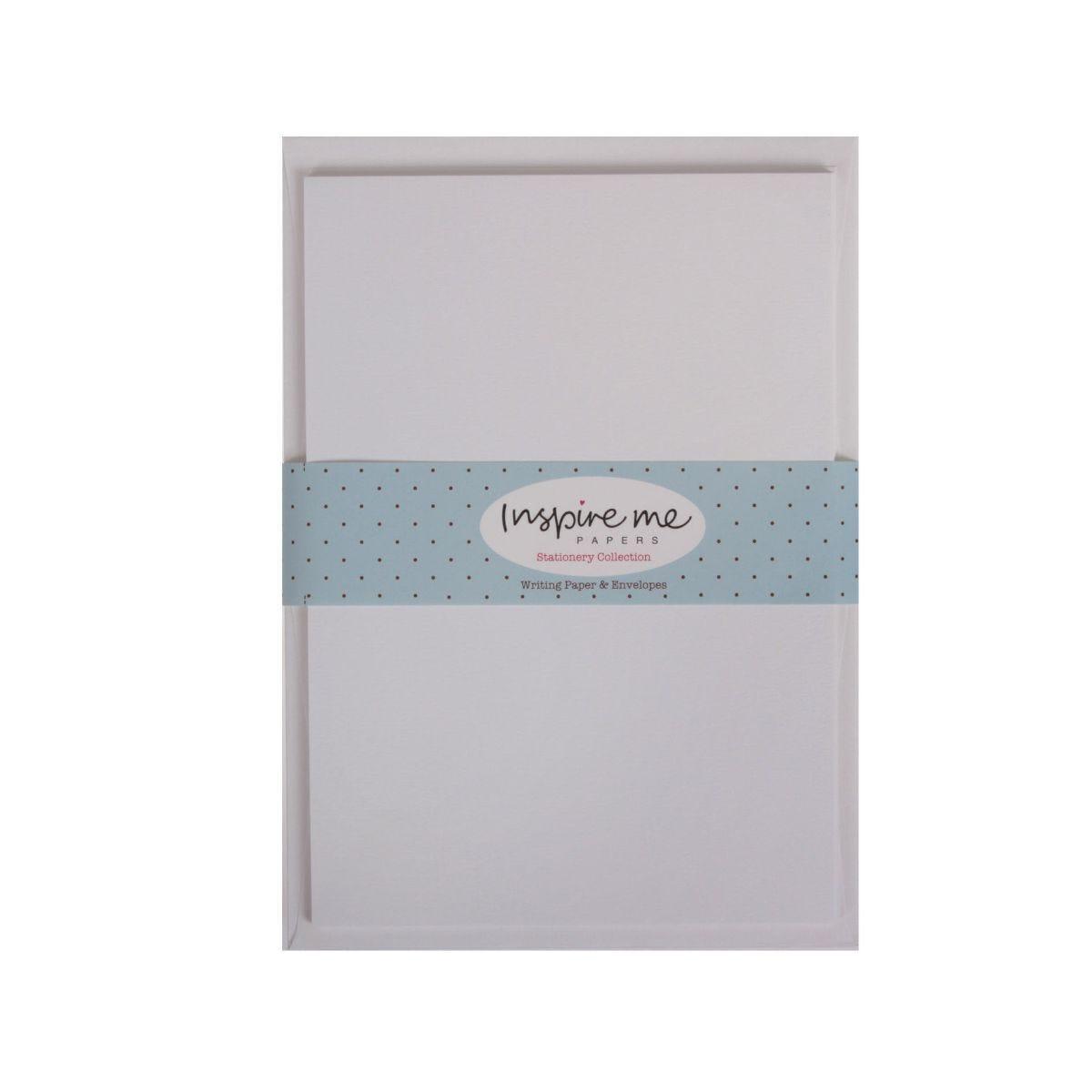 Inspire Me Writing Paper and Envelopes 20 Sheets 10 Envelopes White