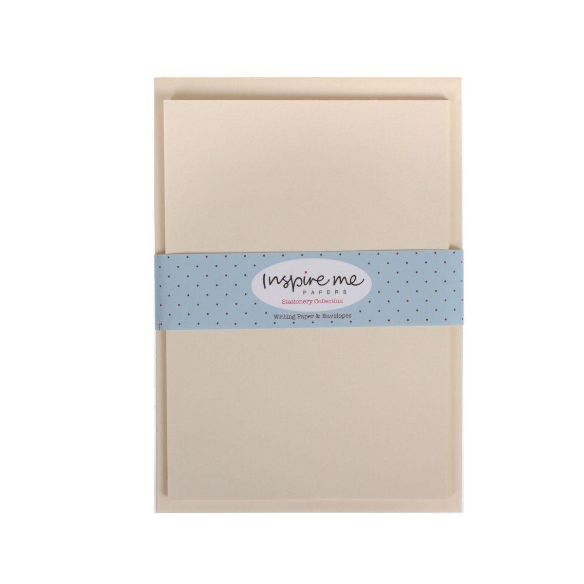 Inspire Me Writing Paper and Envelopes 20 Sheets 10 Envelopes Cream