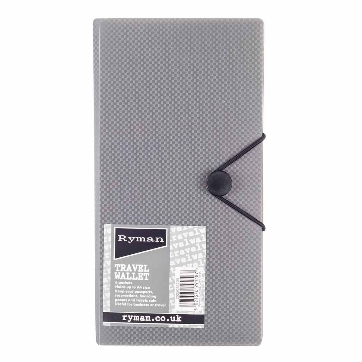 Ryman Grey Travel Wallet