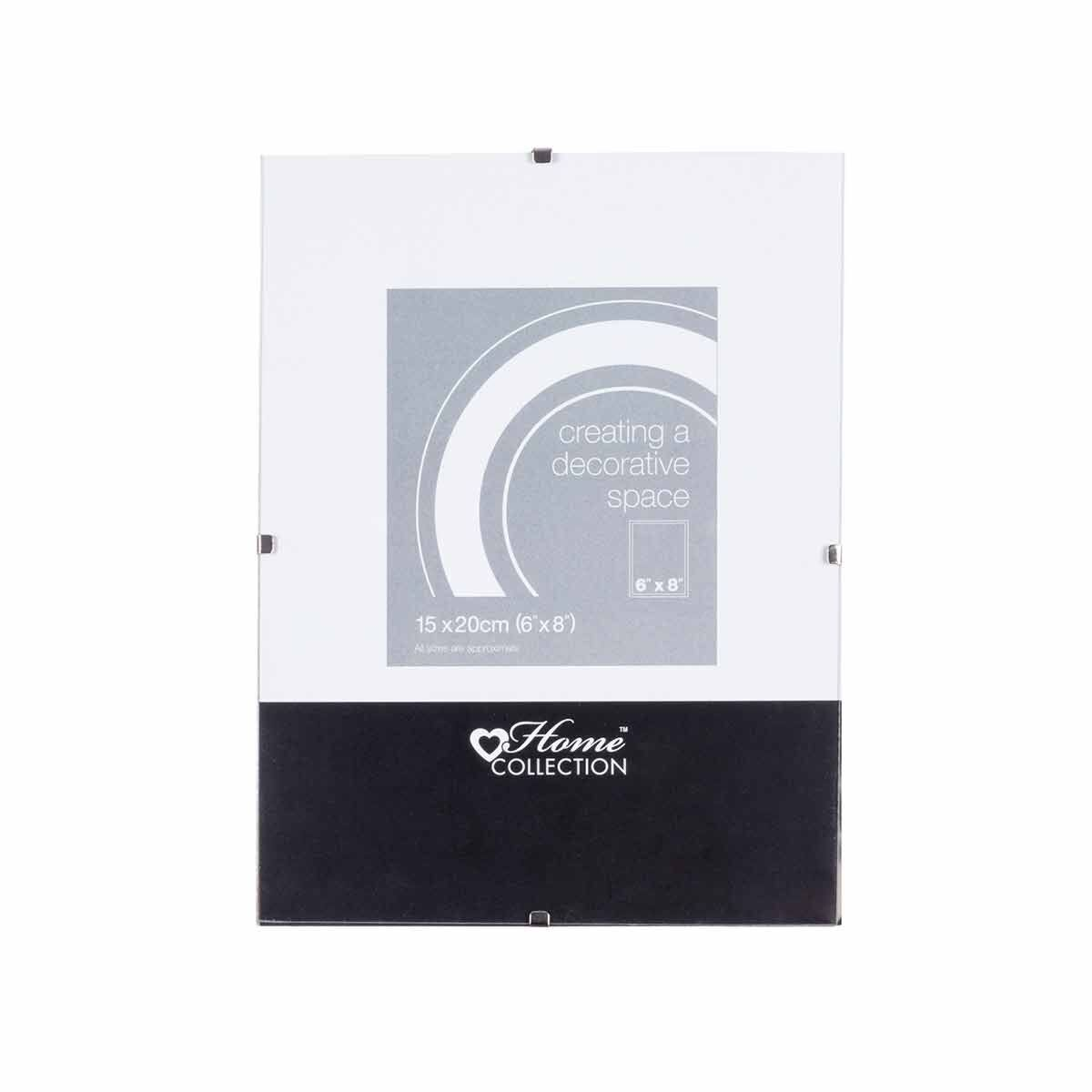 Home Collection Glass Clip Photo Frame 6x8 Inch Pack of 10