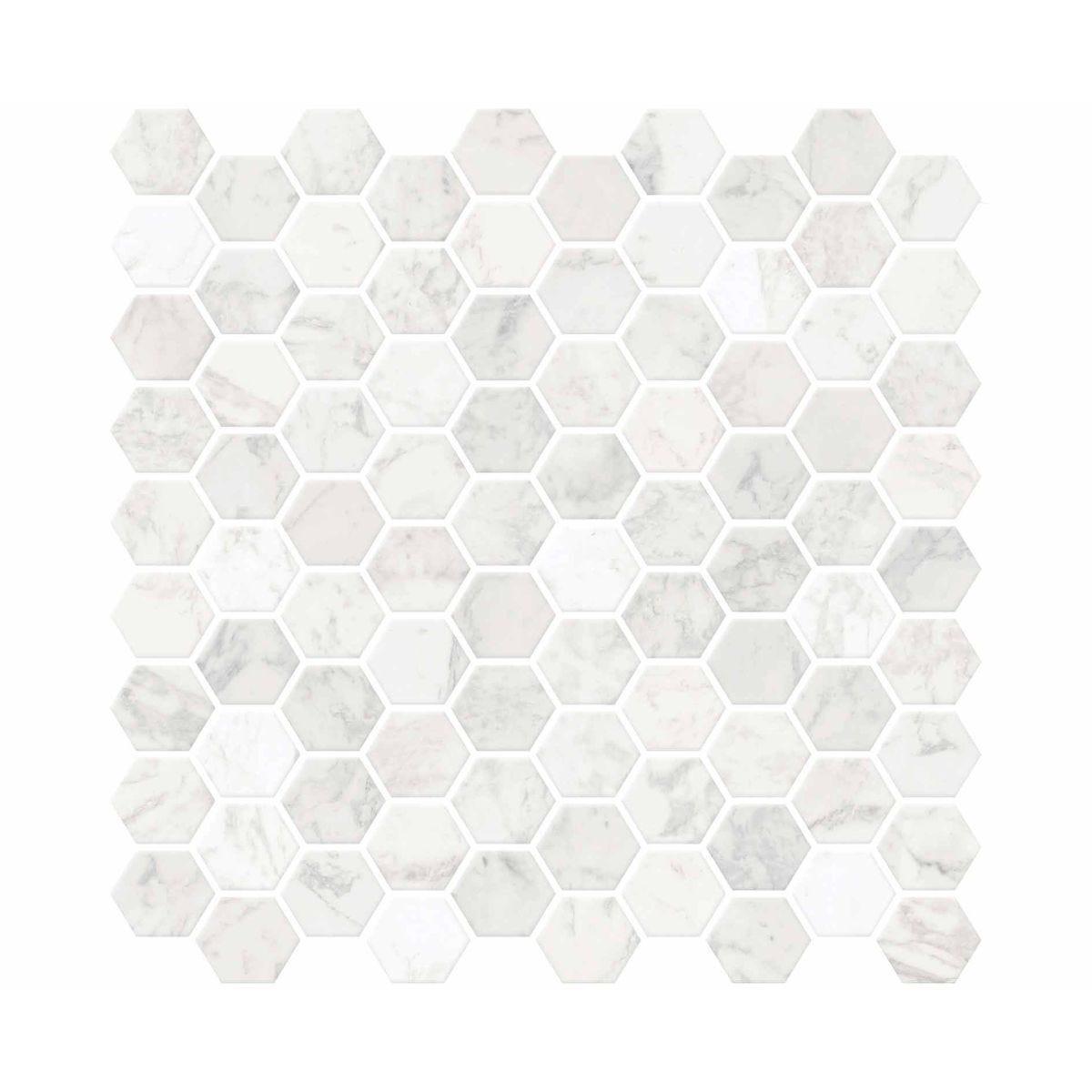 Hexagon Marble Backsplash Tiles Wall Decor