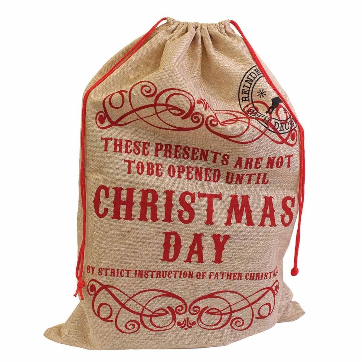 Hessian Santa Sack Large