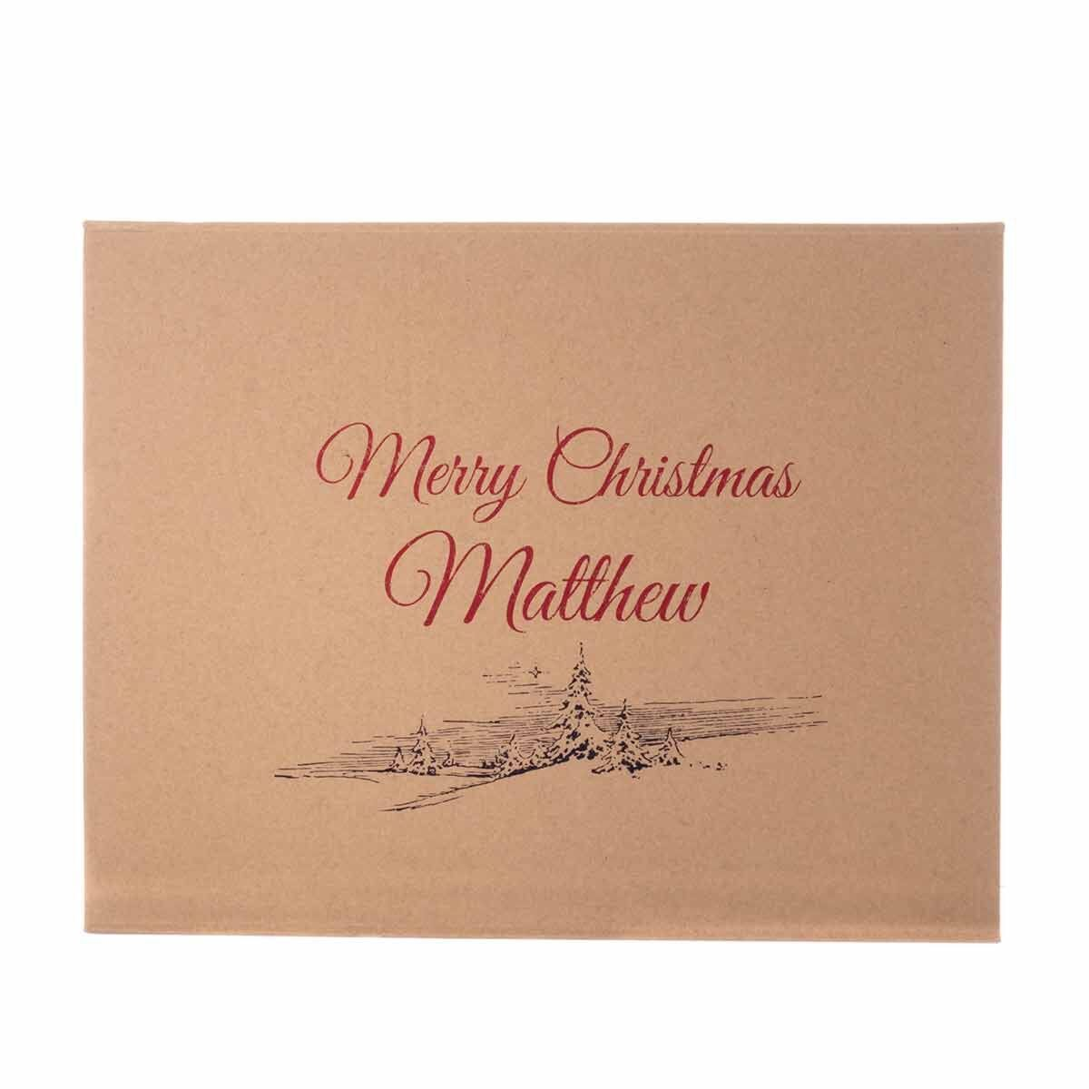 Personalised Christmas Gift Box Snow Scene