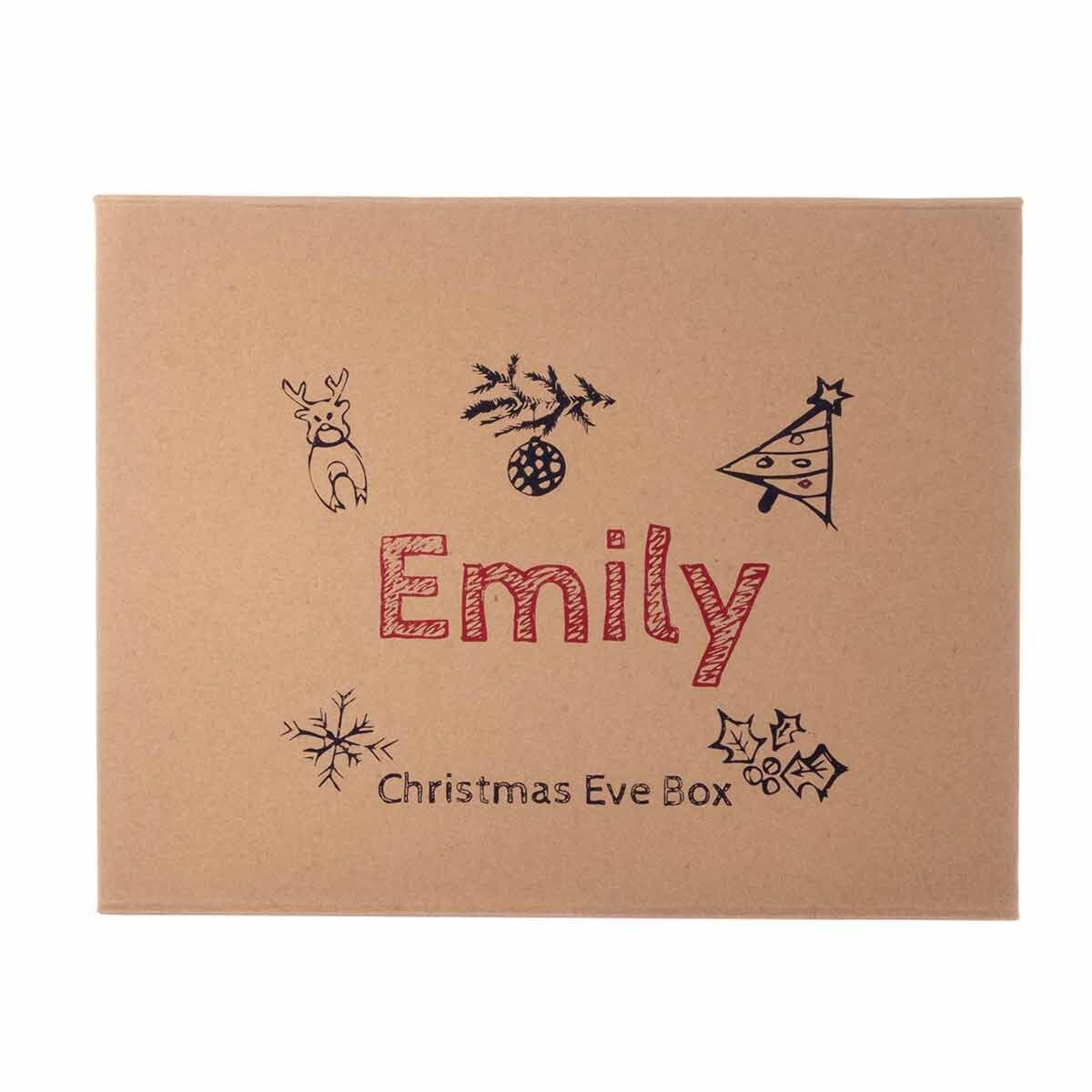 Personalised Christmas Eve Gift Box Childrens Design