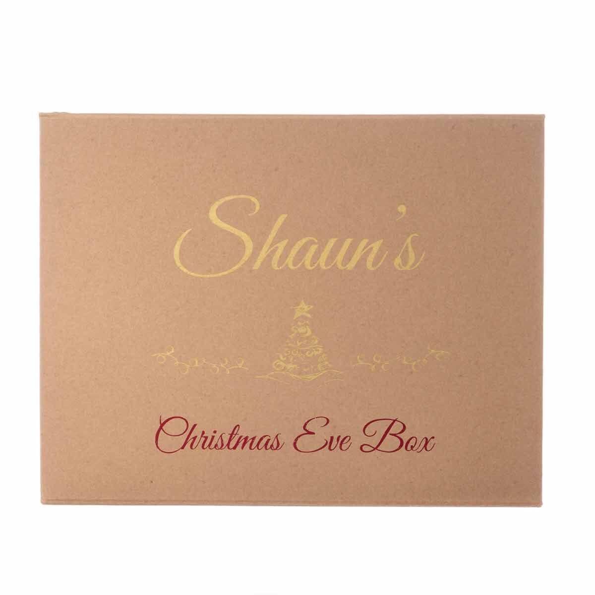 Personalised Christmas Eve Gift Box Elegant Font