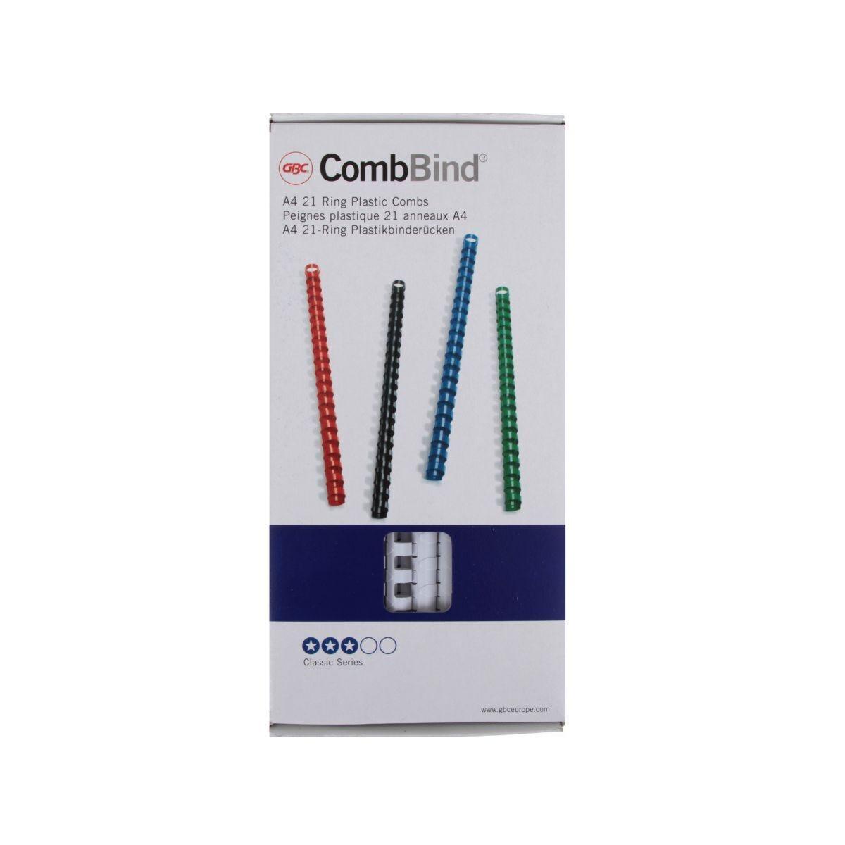 GBC Comb Bindings 12.5mm BX100 White