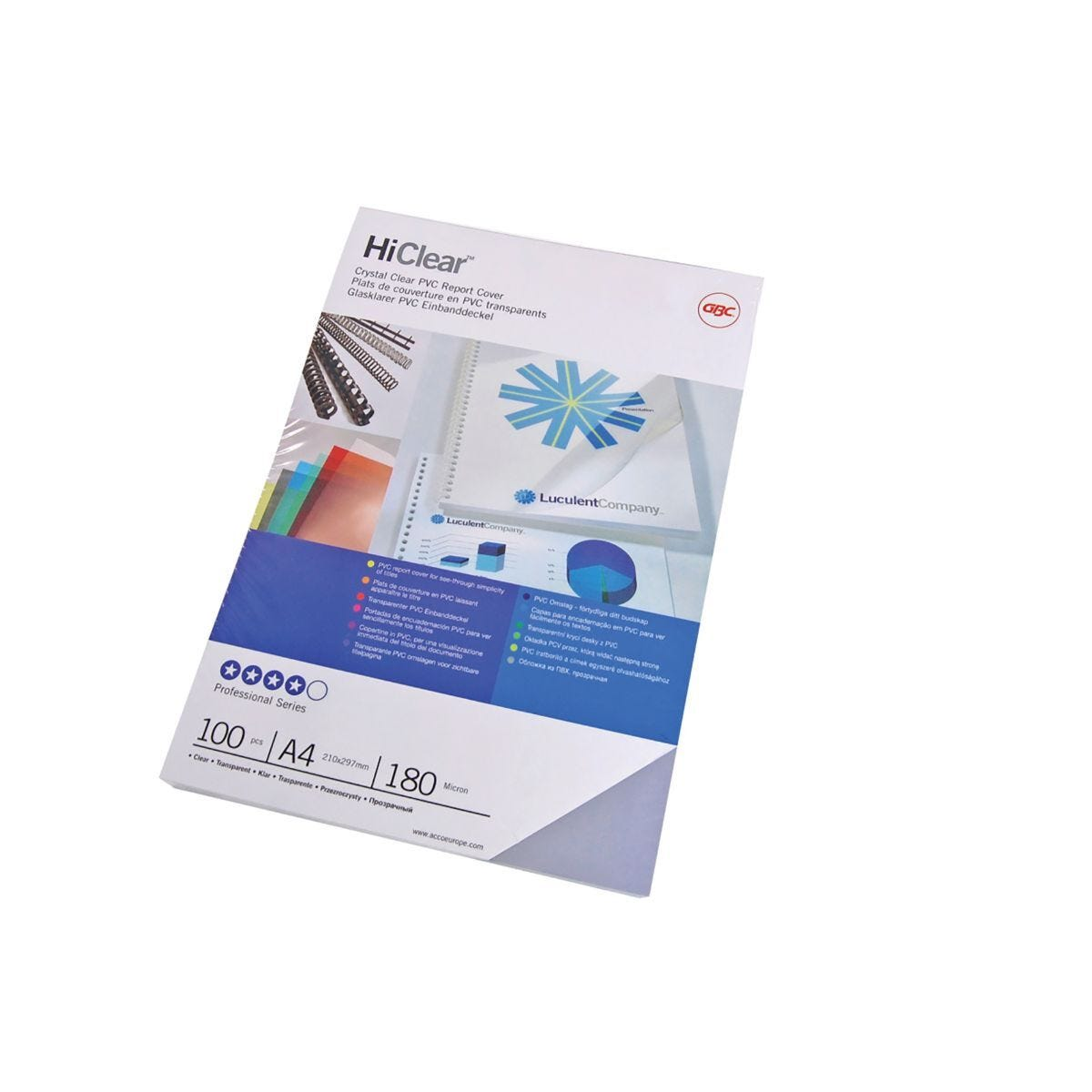 GBC HiClear Binding Covers A3 Clear Pack of 100