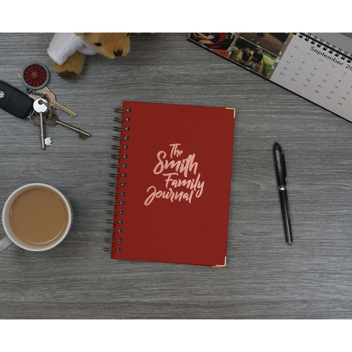 Heritage Personalised Notebook The Journal in Copper Foil Burgundy
