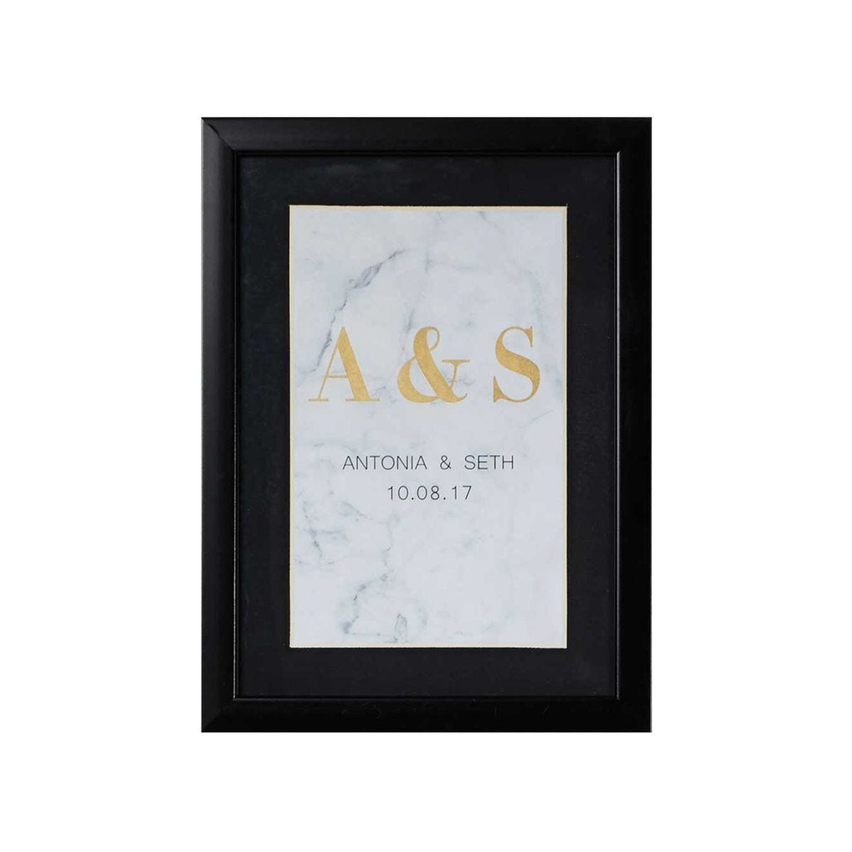 Ryman Personalised Mounted Frame with Marble Initials and Date