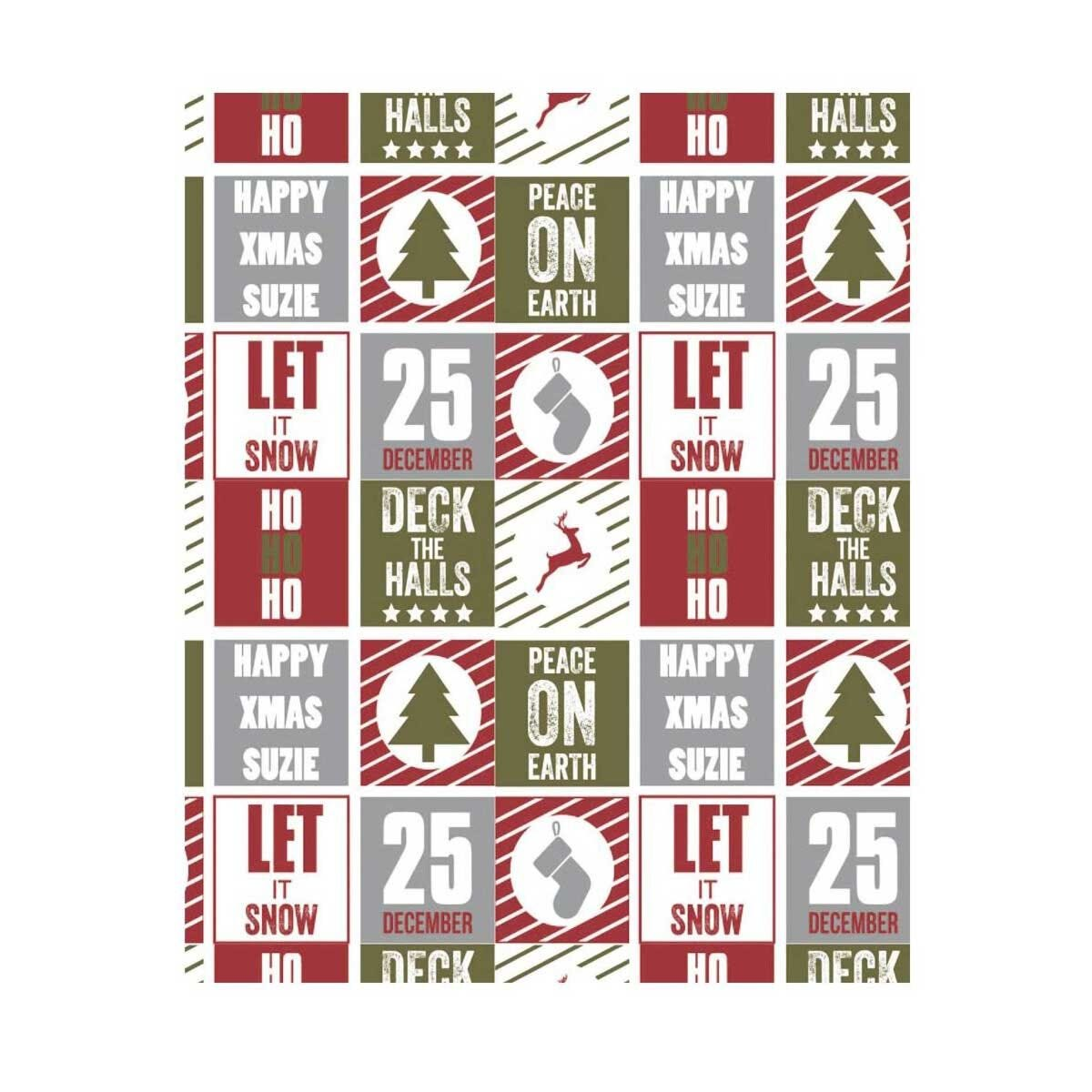 Ryman Personalised Wrapping Paper Christmas Collage 1 Metre x 2 Metre