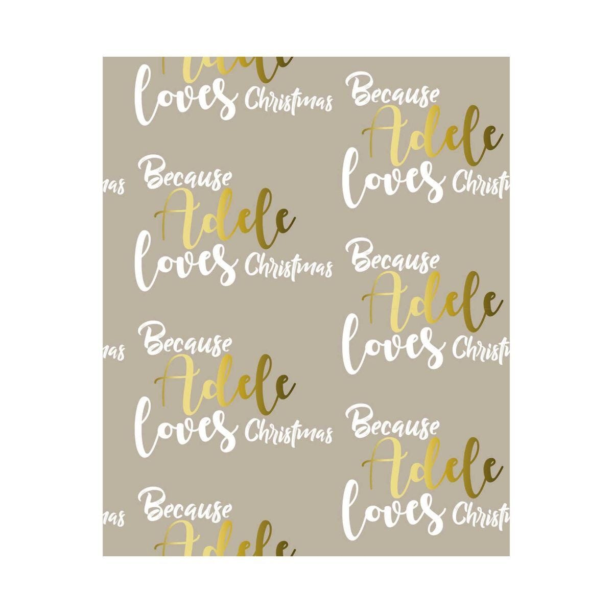 Ryman Personalised Wrapping Paper Loves Christmas 1 Metre x 50cm