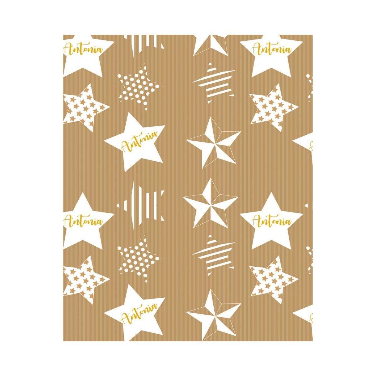 Ryman Personalised Wrapping Paper Stars 1 Metre x 1 Metre