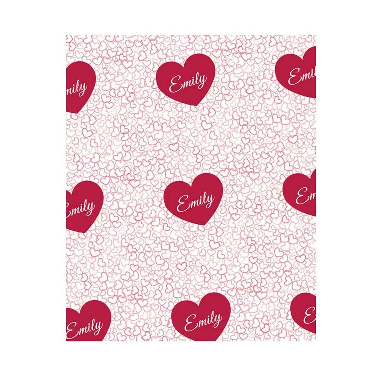 Ryman Personalised Scattered Hearts Wrapping Paper 1 Metre x 1 Metre