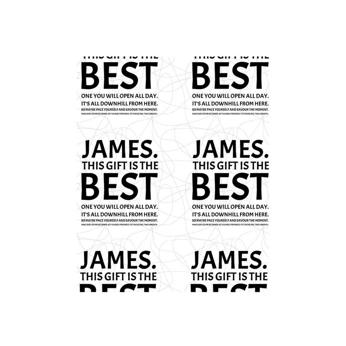Ryman Personalised Wrapping Paper Best Gift 1 Metre x 50cm