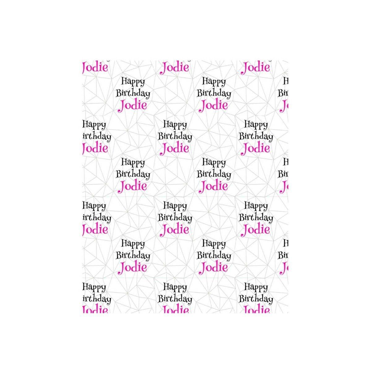 Ryman Personalised Wrapping Paper Geometric Pink 1 Metre x 50cm