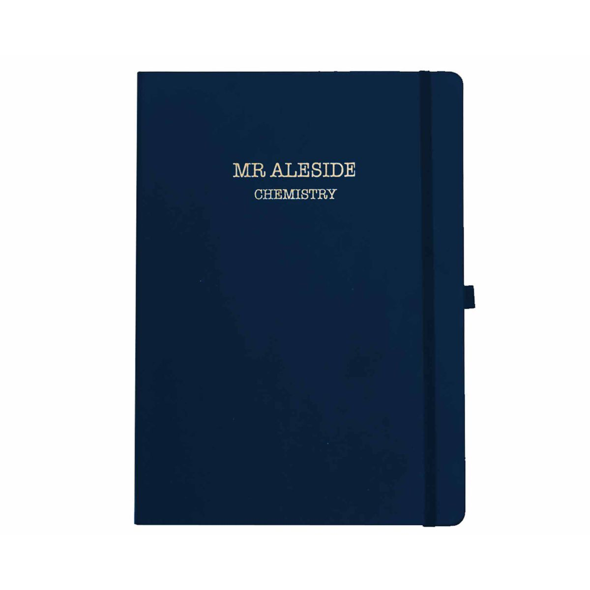 Ryman Personalised Soft Cover Large Notebook Name and Subject in Copper Foil
