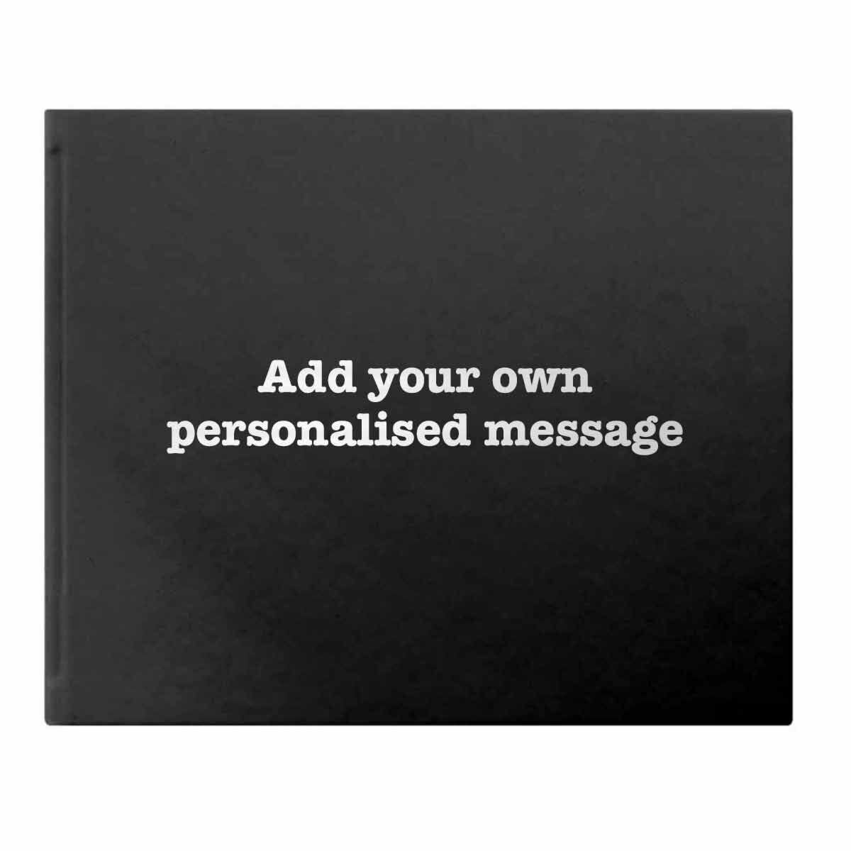 Letts Dazzle Personalised Occasions Typewriter Font Black Silver