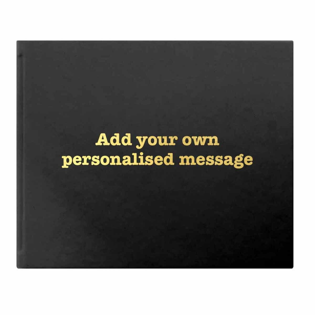 Letts Dazzle Personalised Occasions Typewriter Font Black Gold