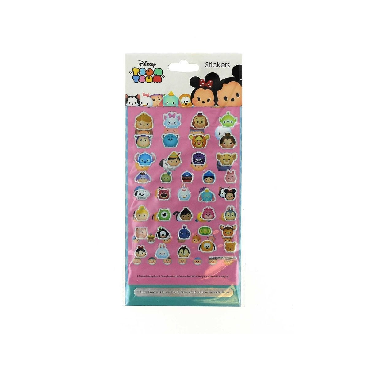 Tsum Tsum Rainbow Sticker Set
