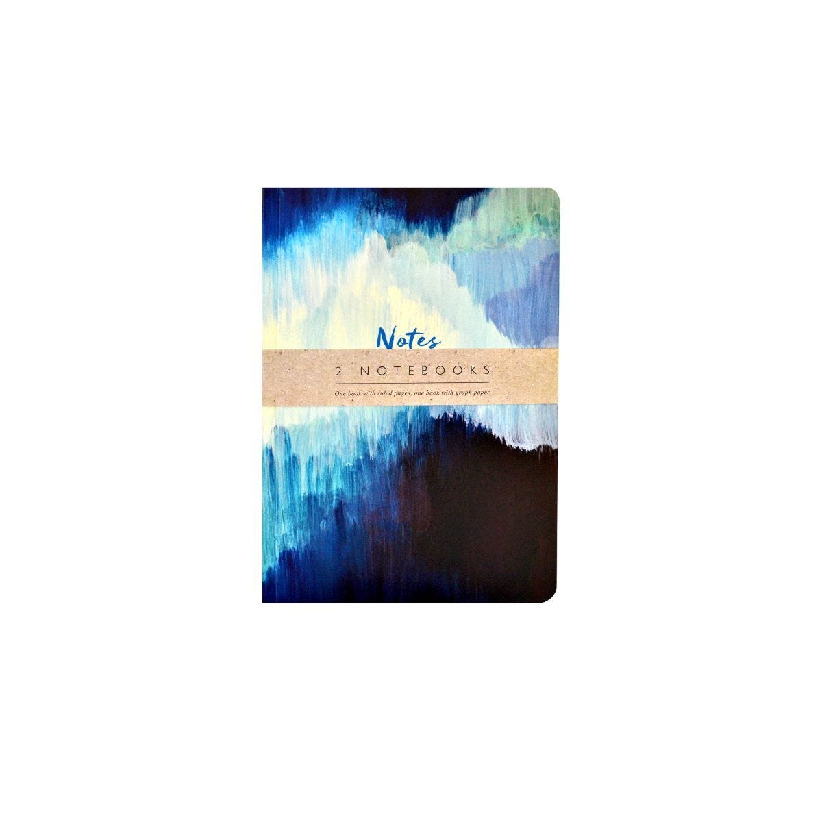 The Notebook Collection Set of 2 Exercise Books Blue Abstract
