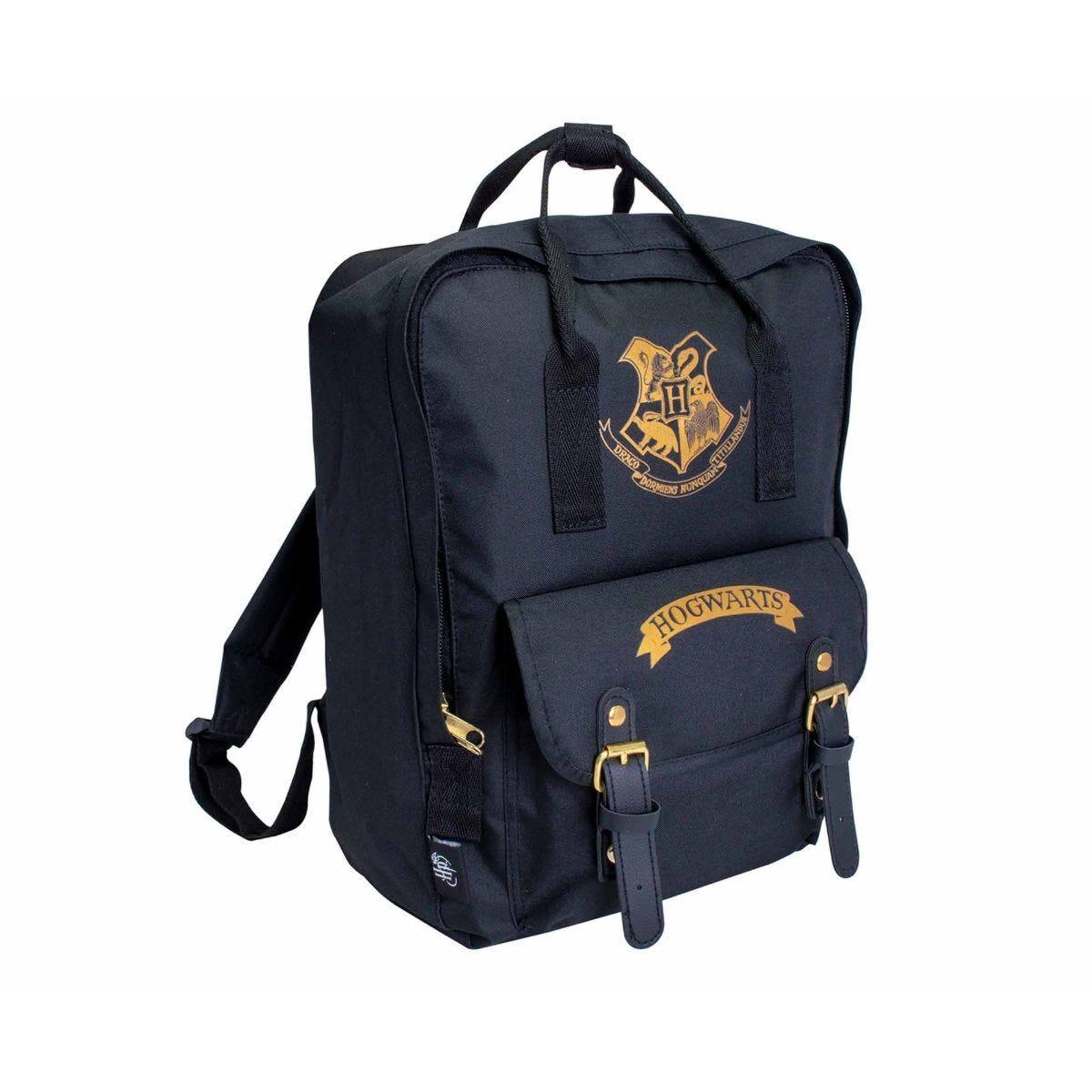 Harry Potter Premium Backpack with Hogwarts Crest Black + Gold