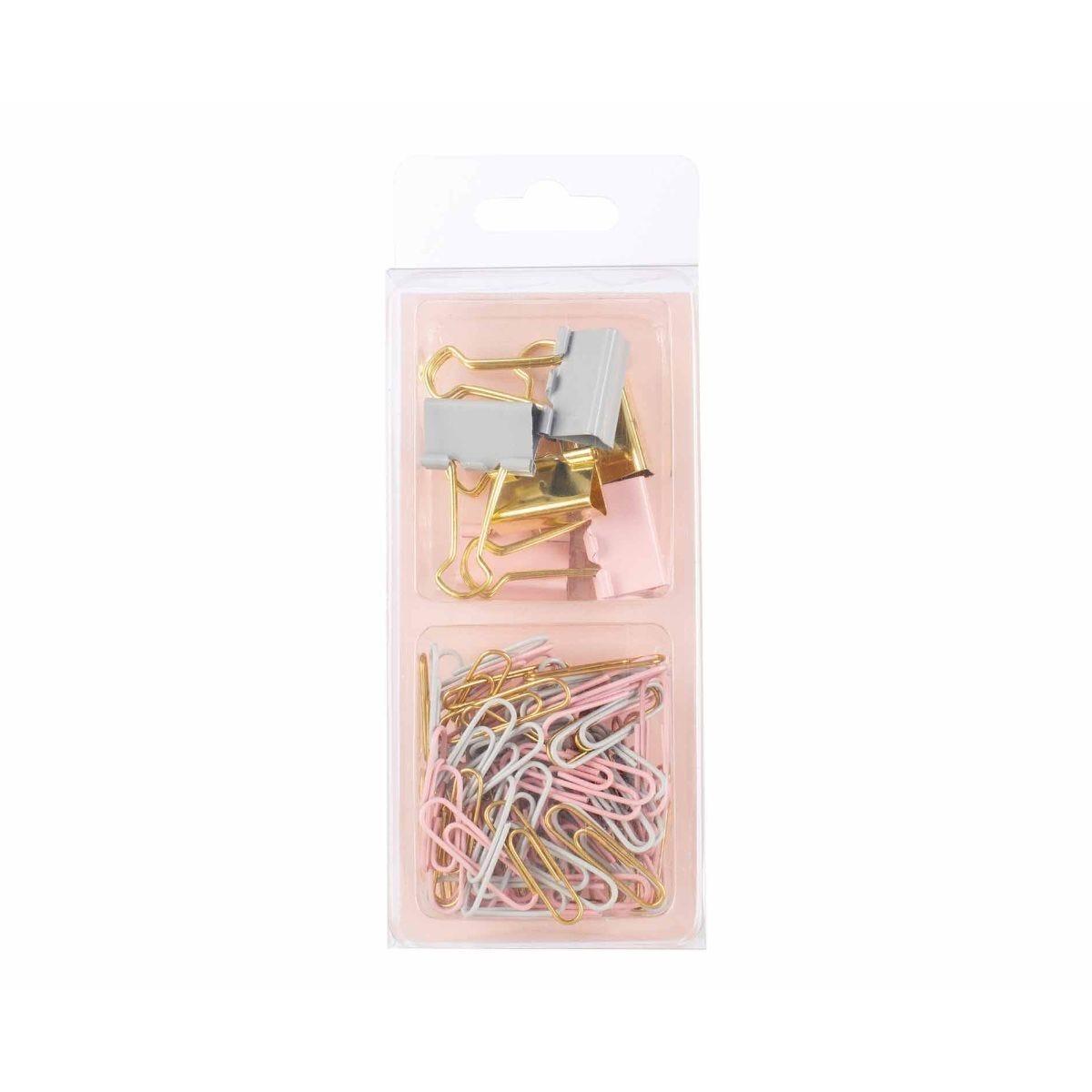 Ryman Paper Clip and Binder Clip Set