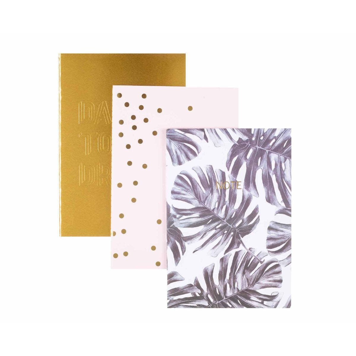 Ryman Multicolour A5 Notebook Pack of 3