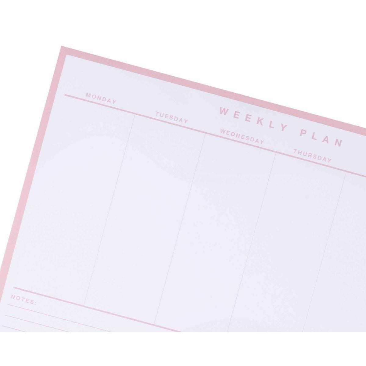 Ryman Weekly Planner Light Pink