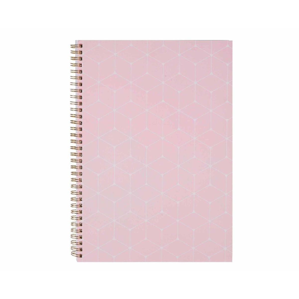 Ryman A4 Spiral Notebook Light Pink