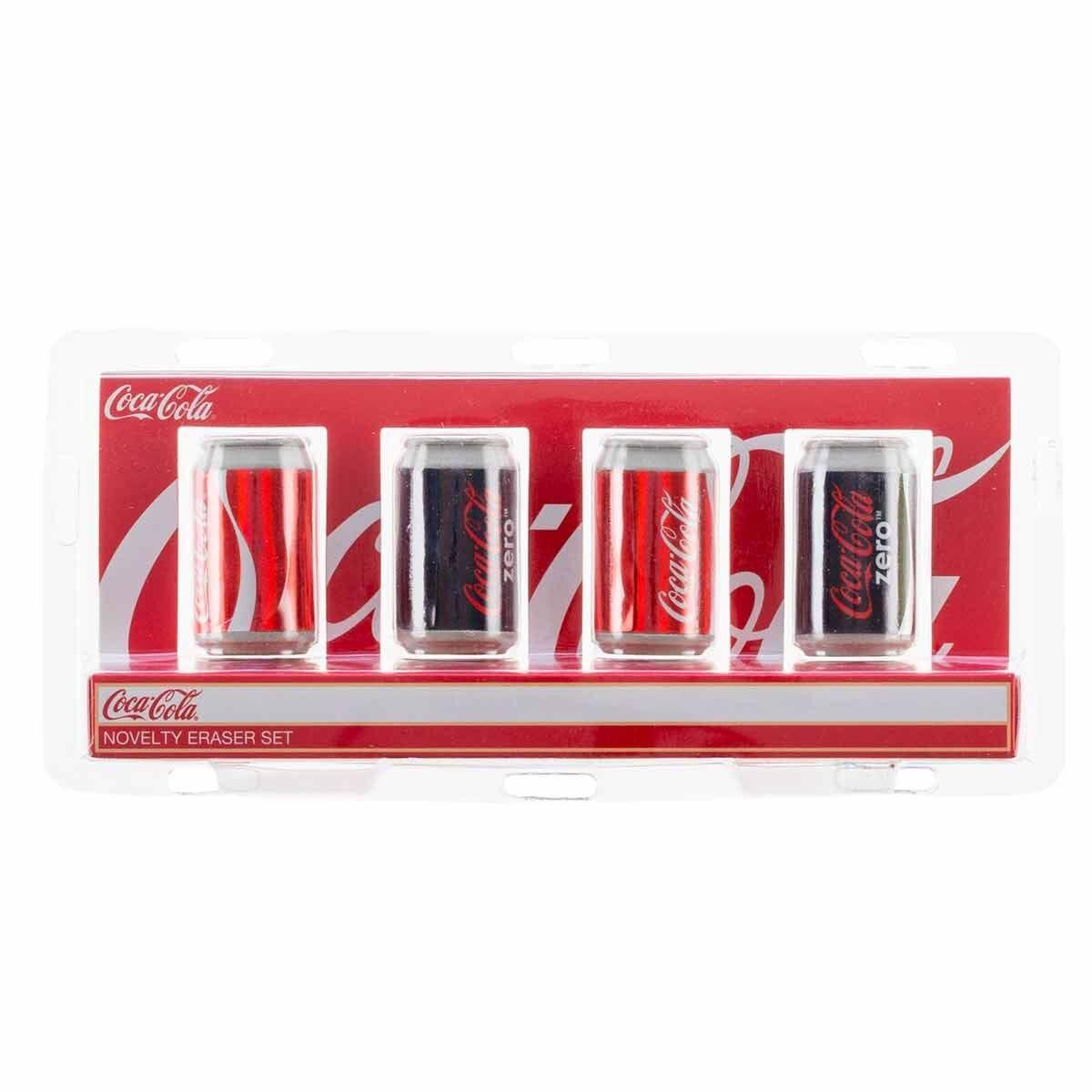 Coke Novelty Eraser Cans Set of 4