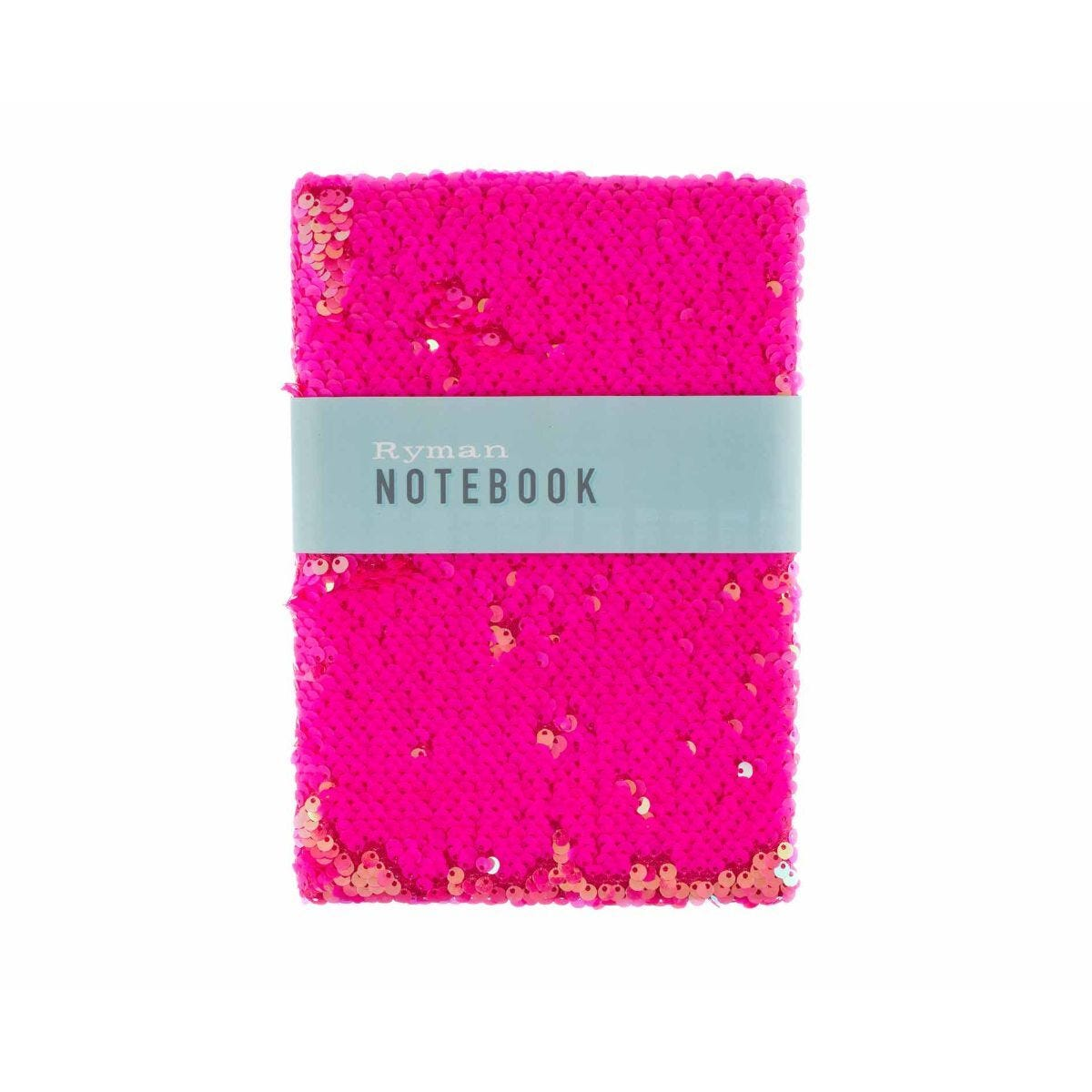 Ryman Pink Flippable Sequin Notebook A5