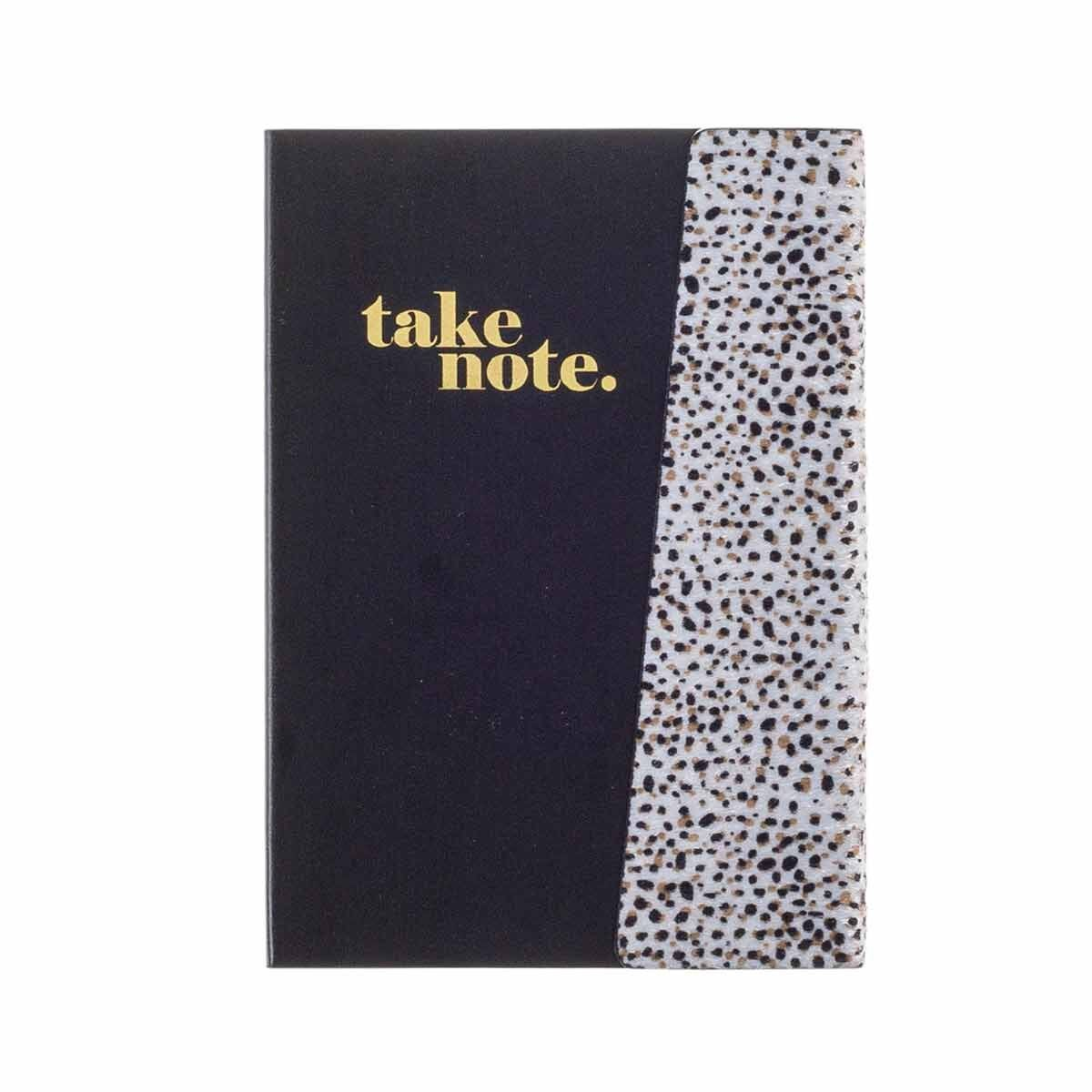 Black and Gold Leopard Notebook A5