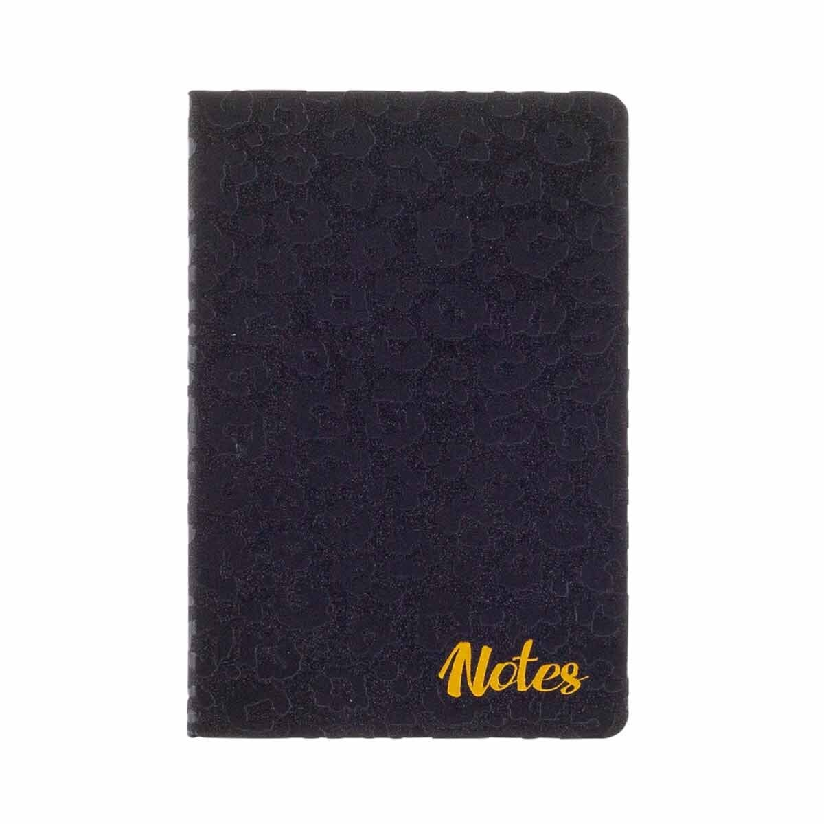 Black and Gold A5 Glitter Notebook