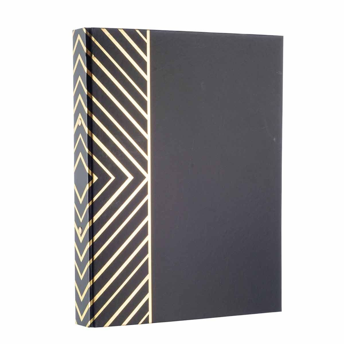 Black and Gold Stripe Ringbinder