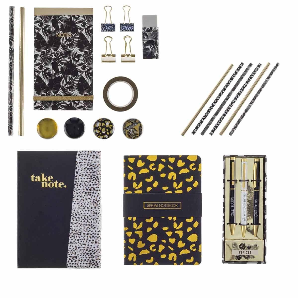 Black and Gold Stationery Bundle