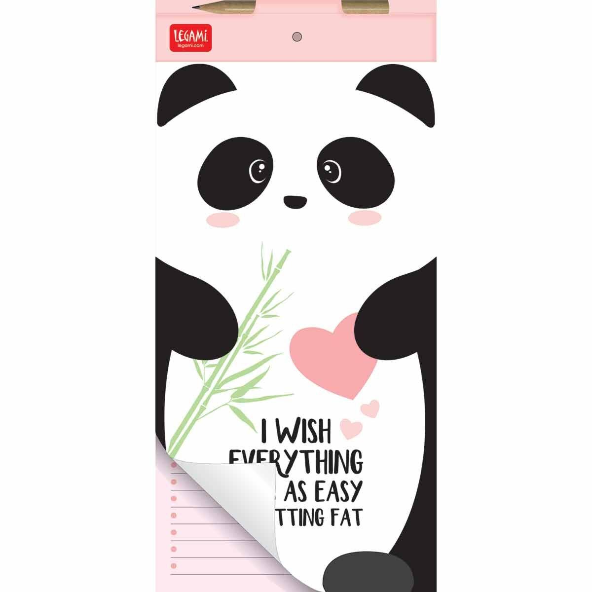 Legami Don't Forget Magnetic Panda Notepad